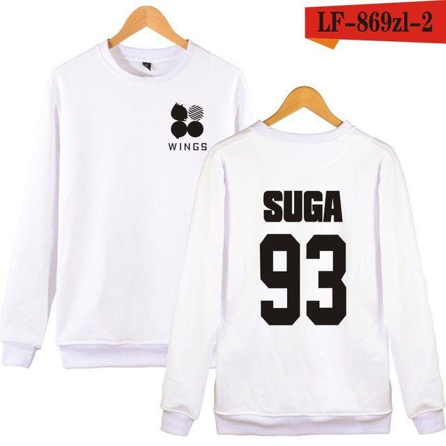 New Arrival Kpop BTS WINGS Album Hoodies For Women Men Bangtan Boys Streetwear Hip Hop Sweatshirt Black Pink Clothes xxs xxxxl