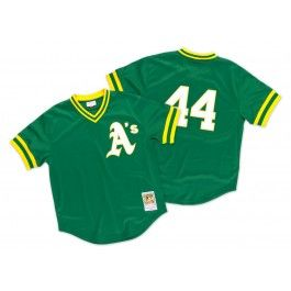Reggie Jackson<br>1987 Authentic Mesh BP Jersey<br>Oakland Athletics