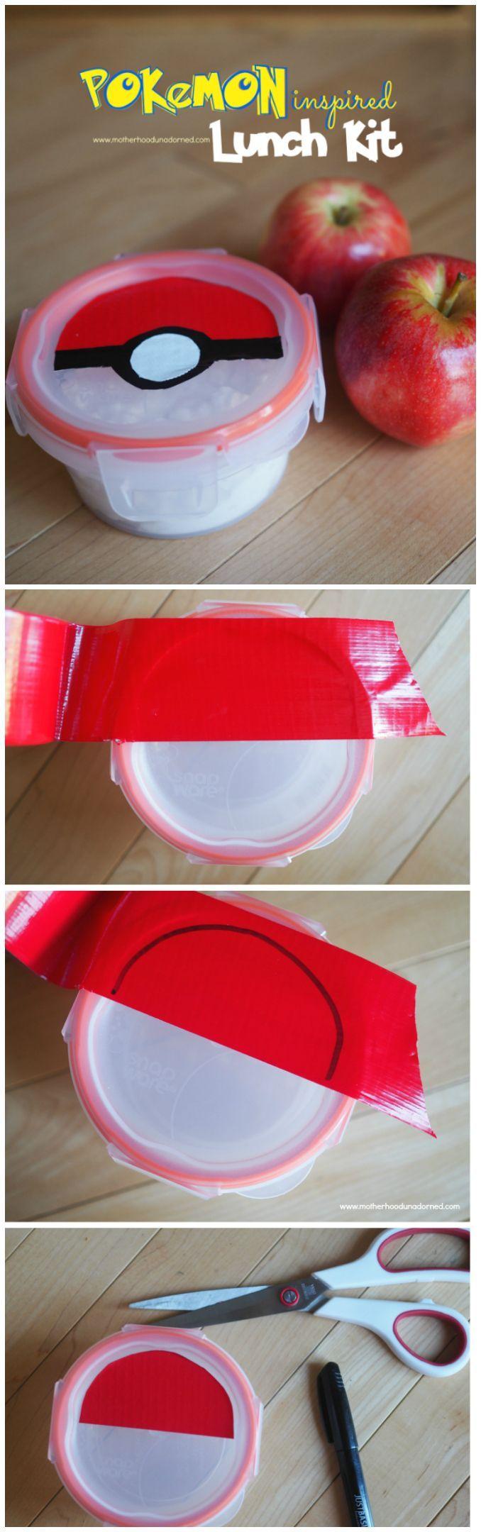 How to make your own Pokemon inspired Pokeball lunch kit for lovers of Pokemon GO! {tutorial}