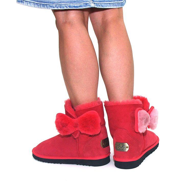 http://www.uggbootsmadeinaustralia.com.au/Shearling-Bow-Wrap-Mini-Sheepskin-Ugg-Boots-Strawberry.aspx