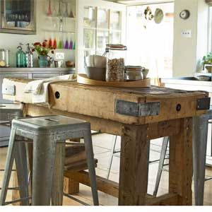 Country kitchen with butchers block - best butchers blocks - kitchen decorating ideas - allaboutyou.com