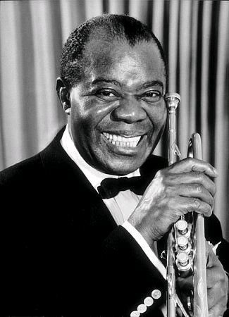 "Louis Armstrong was born into a very poor family in New Orleans, Louisiana, the grandson of slaves.  The greatest American jazz musician. ""What a Wonderful World""!"