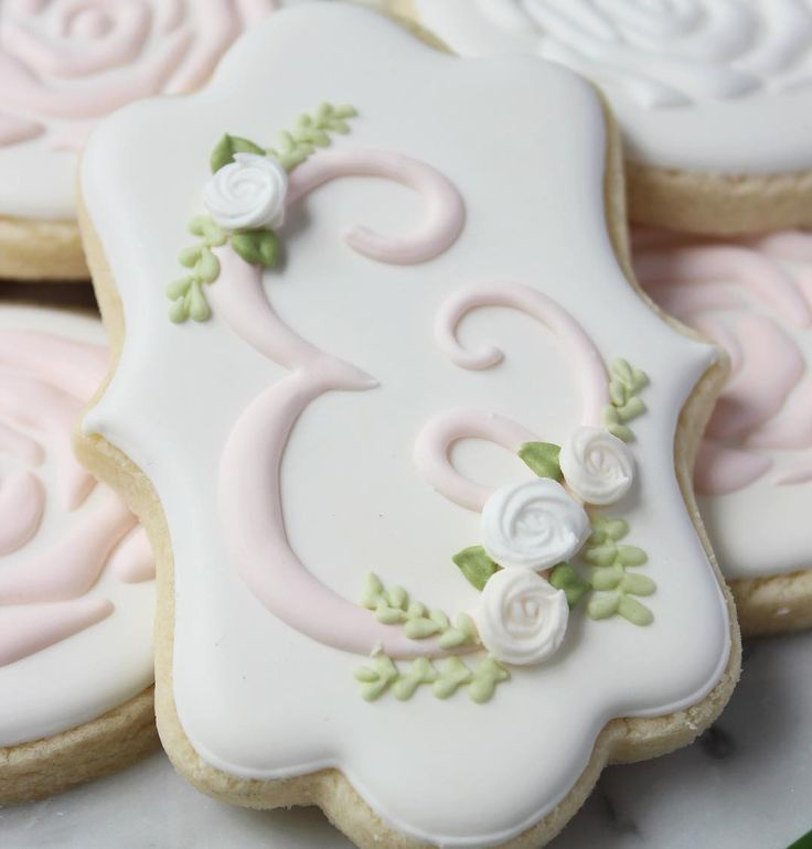 iced wedding cake cookies 84 best images about cookies initial monograms on 16245