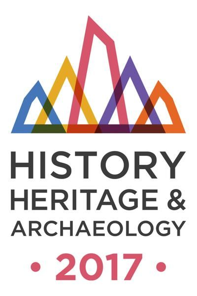 The logo for the Year of History, Heritage and Archaeology 2017-- lots of cool stuff-- check out the UNESCO World Heritage Sites.