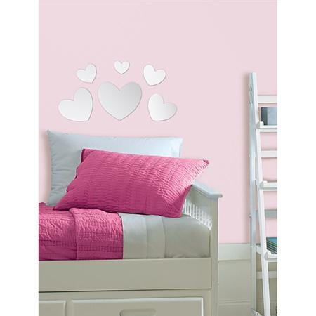 Wallpops hearts mirror wall art diy kids 39 rooms for Kids room mirror