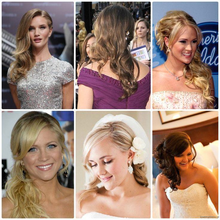 Fryzury ślubne 2013: półupięcia