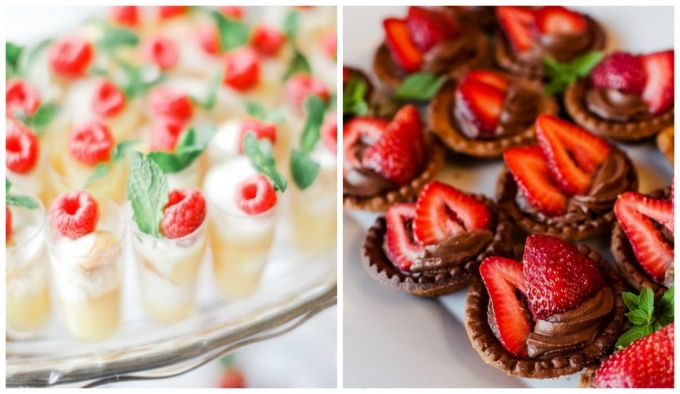 Мини-десерты на свадьбе