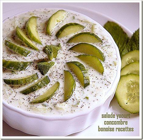 salade libanaise yaourt concombre | Recettes de cuisine ...