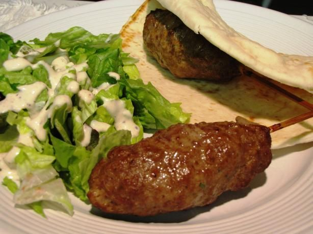Moroccan Ground Beef Kebab / Skewers (I used 1lb ground lamb and two pounds ground beef)