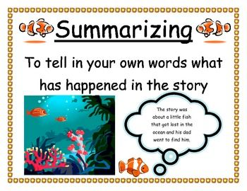 Ocean Themed Reading Comprehension Posters...for Terrie!