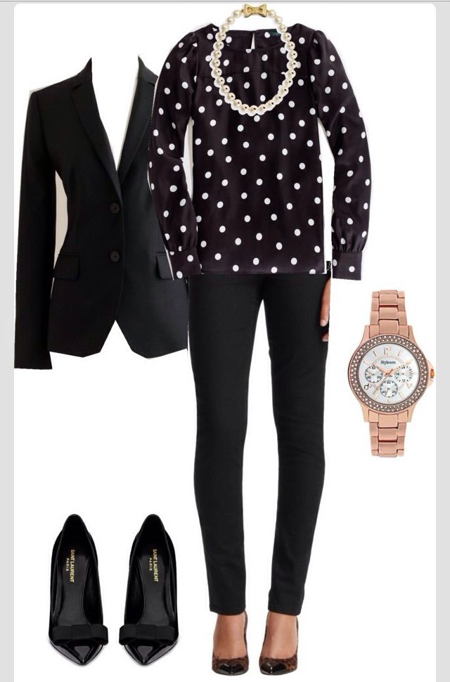 Black & polka dots