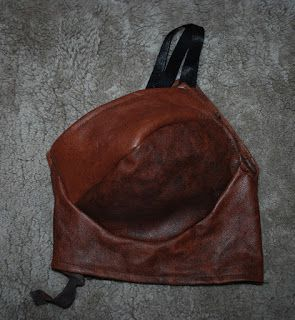 Handmade leather bra Leonora's blog