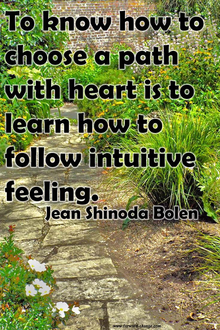 Intuition helps us choose the right #path.