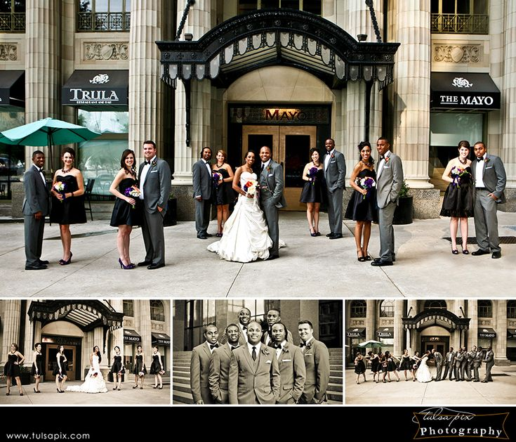 Wedding Party Photography, Mayo Hotel, Tulsa OK.