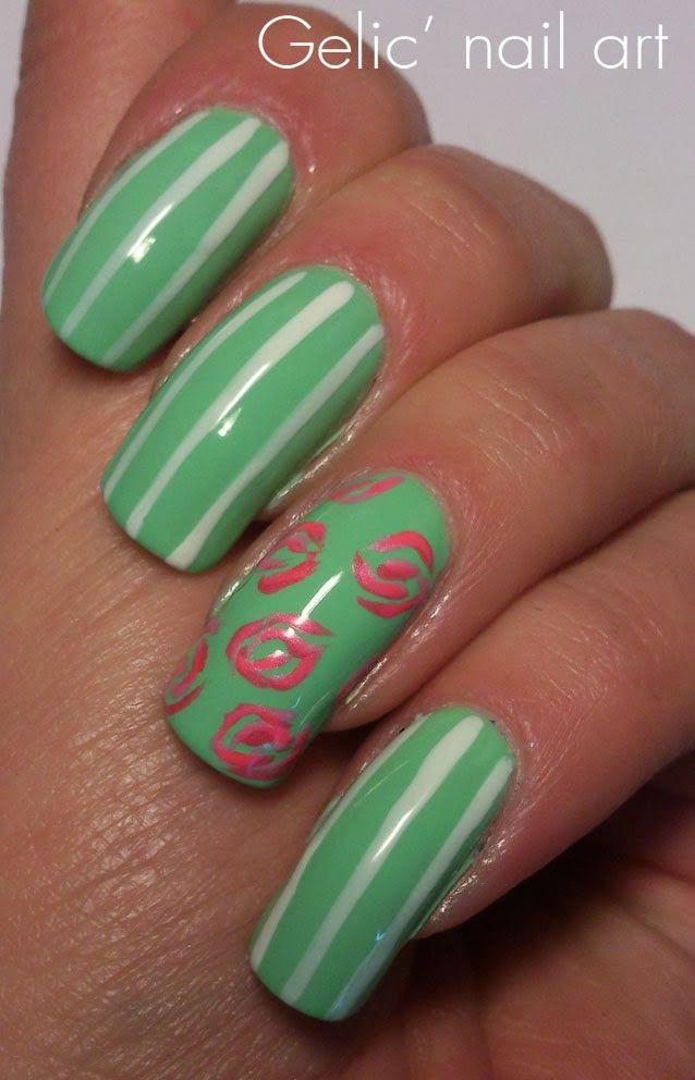 25 gorgeous vintage rose nails ideas on pinterest rose nail gelic nail art vintage rose nail art prinsesfo Gallery