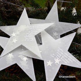 hübsche #Deko zu #Weihnachten und dem #Familienfest passen diese Sterne