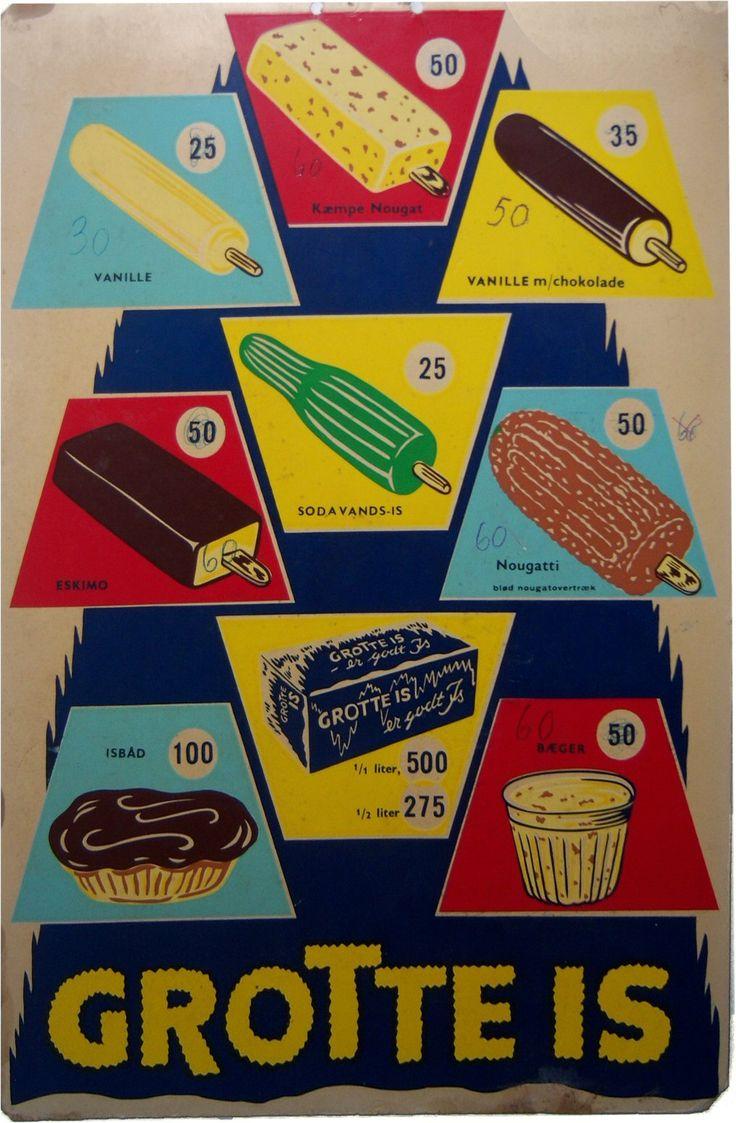 Old Danish Ice cream signs