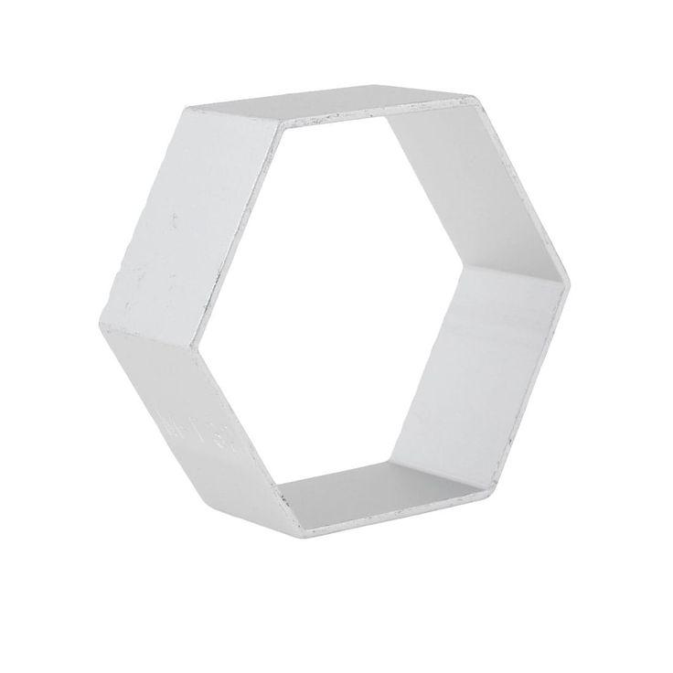 Unique Bargains House DIY Maker Bread Biscuit Hexagon Shape Silver Tone Metal Cutter Mold Mould