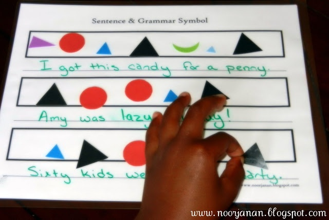 Montessori Grammar Sentence Printables
