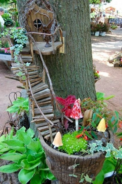 Wish I had space to do this inside Fairy Garden Ideas