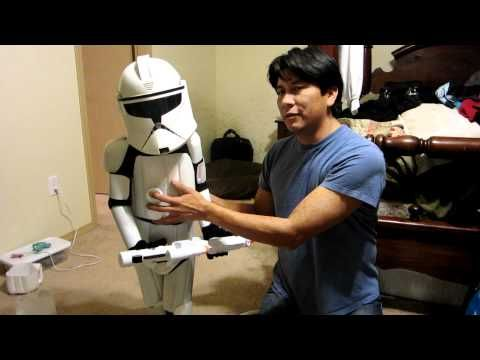 DIY Storm trooper costume out of milk jugs! Tutorial.  Size 7 please