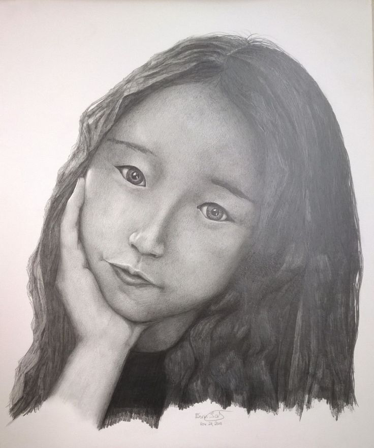 A pencil portrait with someone who helped me out as an Asian reference