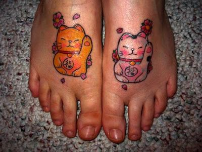 Pictures-of-Cat-tattoos-design-for-your-child Abstract lucky cat tattoo design for everybody
