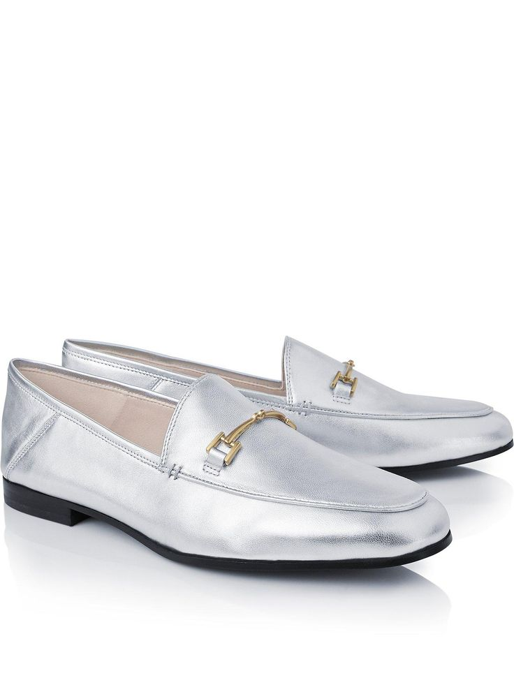 SAM EDELMAN Loraine Loafers - SilverSize & Fit True to size - order your usual sizeSlip on designModel is 5'10