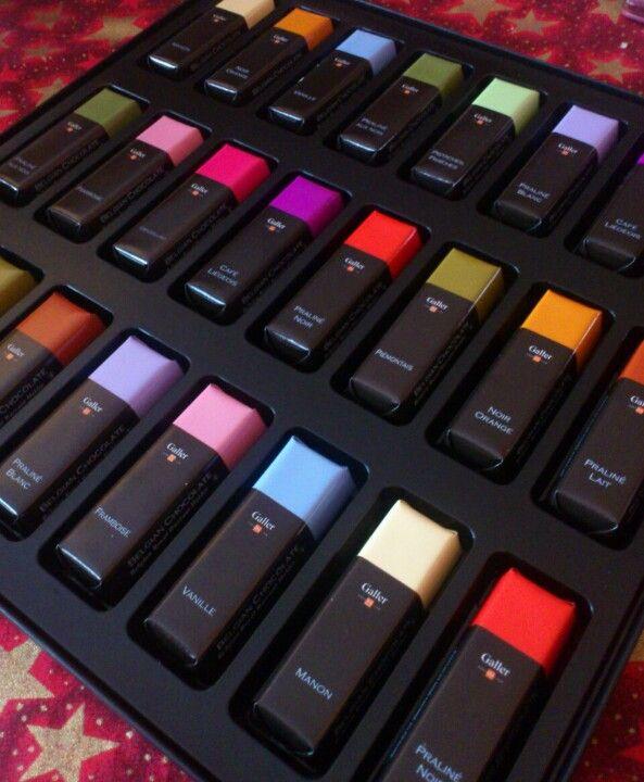 """Chocolats Galler - impossible de ne pas les  """"gouter""""  TOUS !!"""