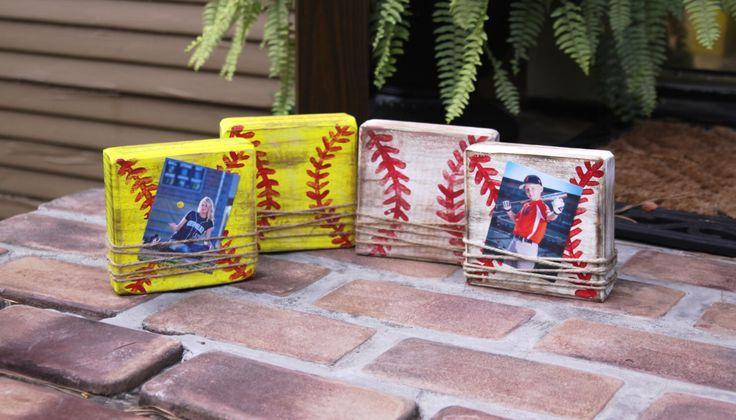 Small block picture frame; baseball frame; softball frame; kids sports frame; distressed block picture frame; home decor by Framesaplenty on Etsy https://www.etsy.com/listing/454446828/small-block-picture-frame-baseball-frame