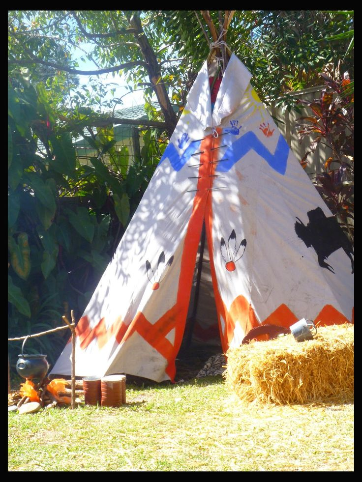 Wild West Tee-pee, Wig-wam Native American Teepee I was having a Wild West Cowboys and Indians party for my son who was turning 7. I n...