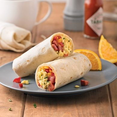 Burritos déjeuner - Recettes - Cuisine et nutrition - Pratico Pratiques