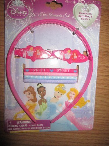 Disney Princess 7pice Hair Accessories Set (Headband Barrettes & Elastics) @ niftywarehouse.com #NiftyWarehouse #Disney #DisneyMovies #Animated #Film #DisneyFilms #DisneyCartoons #Kids #Cartoons
