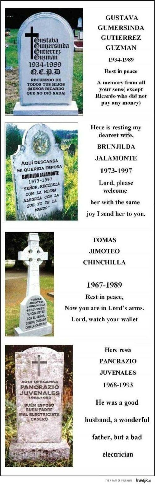 Funny Gravestones - funny pictures - funny photos - funny images - funny pics - funny quotes - funny animals @ humor