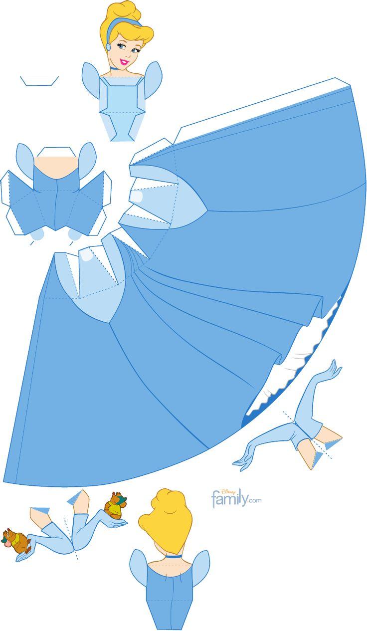 cinderella - Cinderela para recortar e montar 3D | Scribd