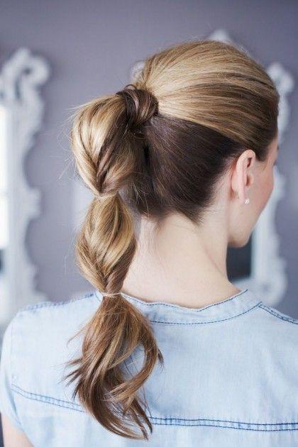 Creative ponytail.