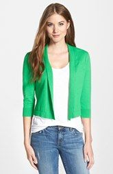 Chaus Cotton Open Front Cardigan