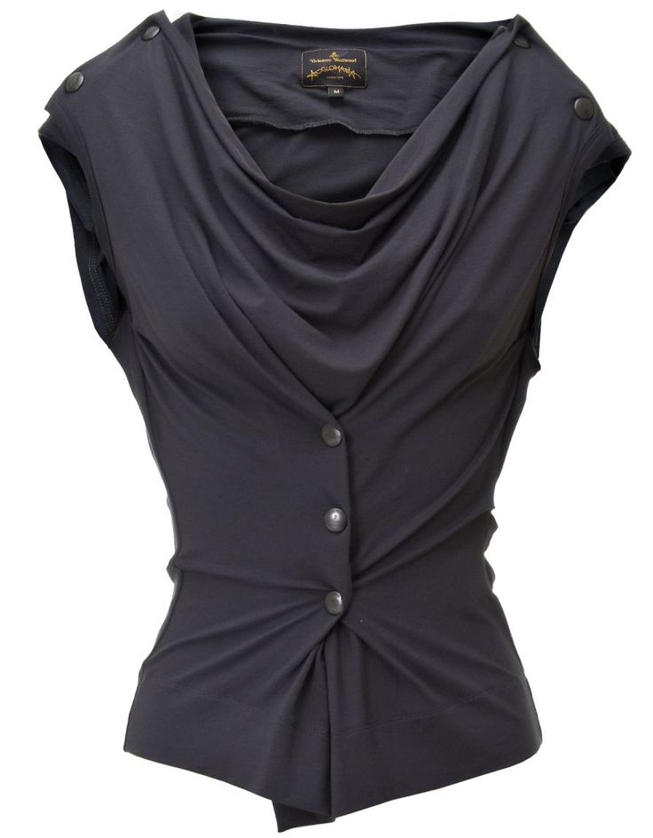 Great idea to put the buttons and button holes in the excess fabric around the centre, to accentuate the curve appeal.