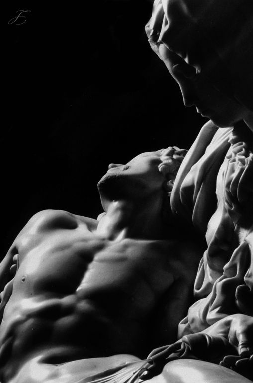 tales-of-the-night-whisperer:  Michelangelo Buonarroti, La Pietà (1497-99) Edit:Tales of the Night Whisperer Please do not remove credits