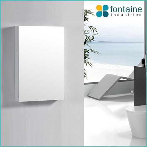 Mirror medicine storage shaving cabinet cupboard 600x900 mounted or recessed | Renovation Design Ideas Affordable | Fontaine Industries |