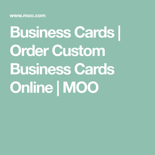 Business Cards   Order Custom Business Cards Online   MOO