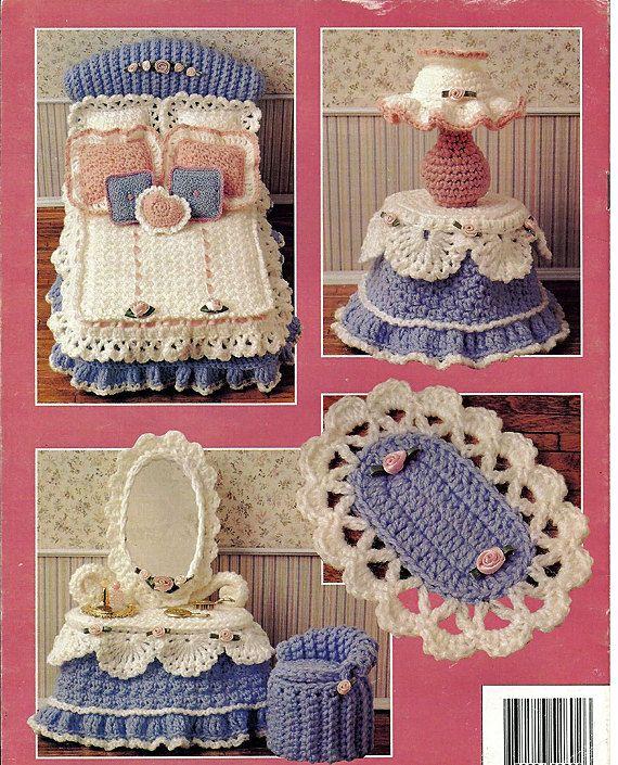 Barbie Furniture, Sweetheart beadroom Volume III, Annie Attic Crochet Furniture Pattern.