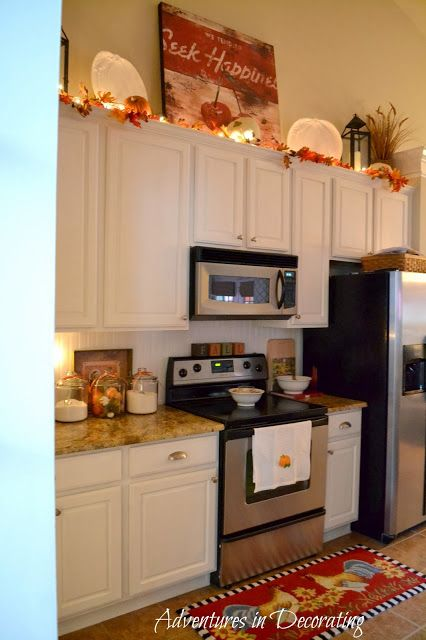 adventures in decorating our fall kitchen - Fall Kitchen Decorating Ideas
