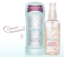 Degree Classic Romance Deoderant and Body Spray