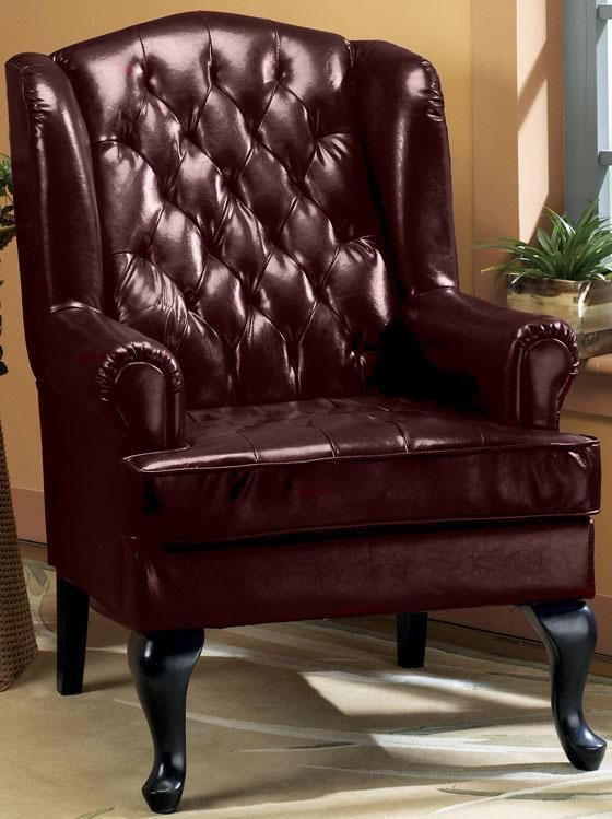 Tufted Wing Chair 45 Quot H Burgundy Home Decorators