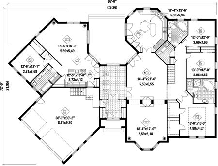 1000 images about exteriors and floor plans on pinterest for New home plans with mother in law quarters