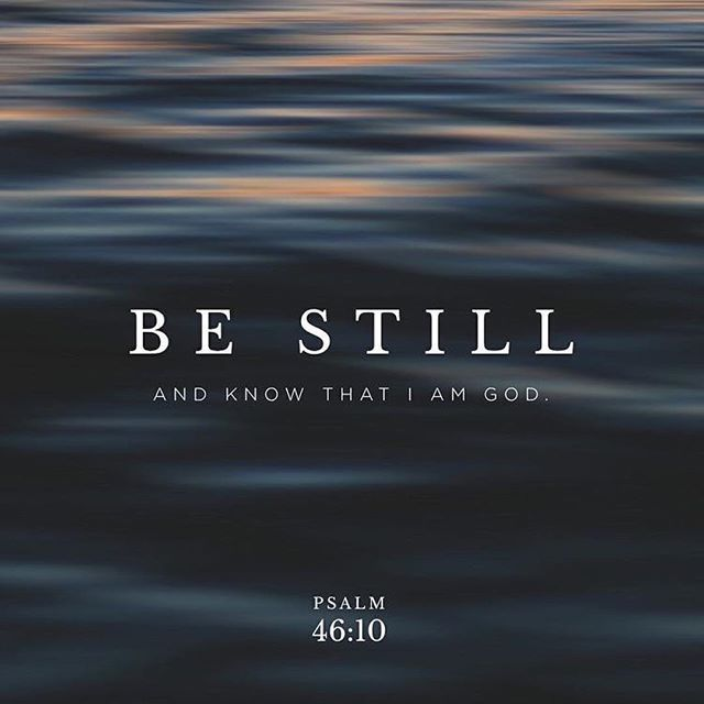 Aquietai Vos E Sabei Que Eu Sou Deus Salmos 46 10 Defesadafe