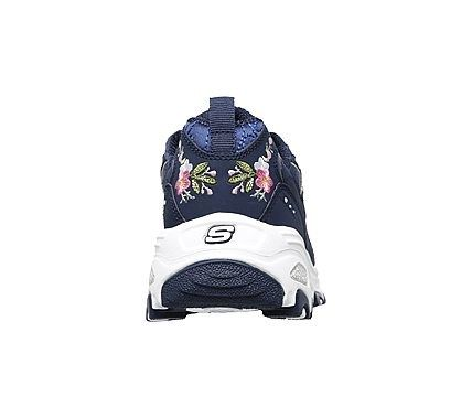 Skechers Women's D'lites Bright Blossoms Memory Foam Sneakers (Navy/Multi)