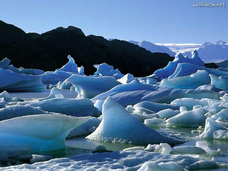 Icebergs, Torres del Paine, Chile