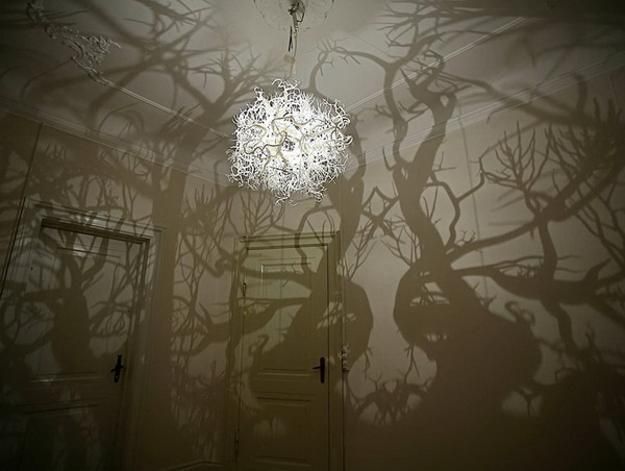 Twigs and Roots Lighting Fixture Brings Forms of Nature into Modern Interior Design
